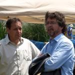 Albert Sorolla i José A. Montero, alcalde de Montornès del Vallès