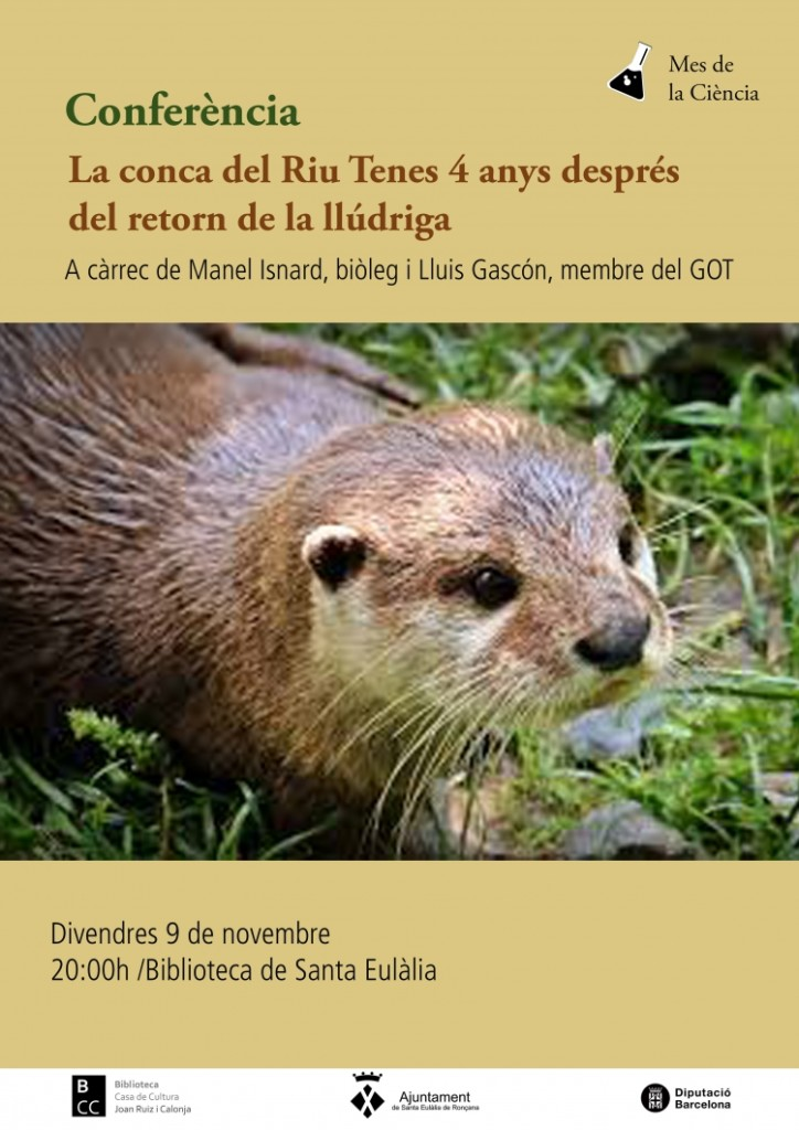 Conferència llúdriga 9 novembre biblio SER